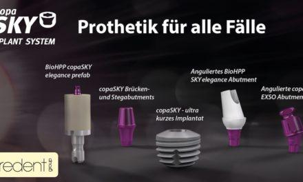Ultrakurzes Implantat mit vielfältigen prothetischen Lösungen