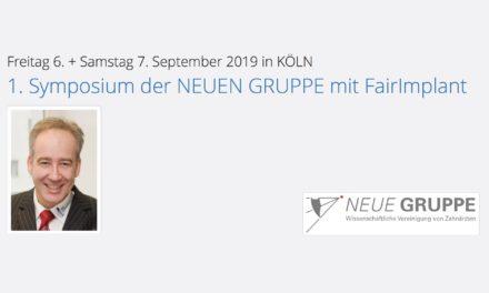 Symposium der NEUEN GRUPPE mit FairImplant