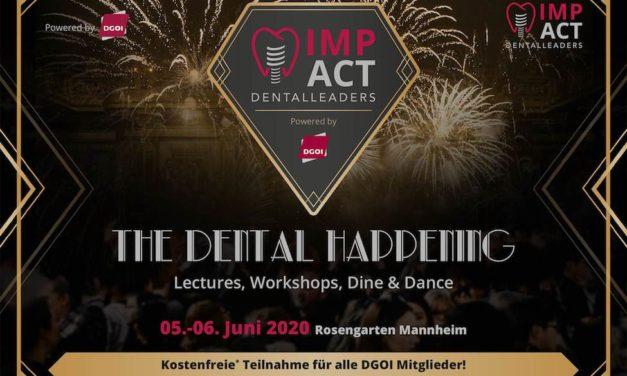 Jetzt schon an morgen denken: DGOI ImpAct Dental Leaders 2020