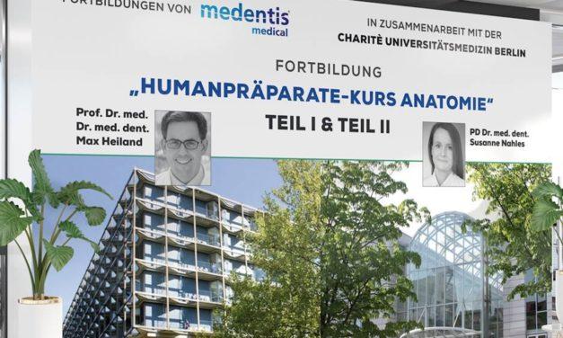 Humanpräparate-Kurs: Medentis Medical und Charité Berlin