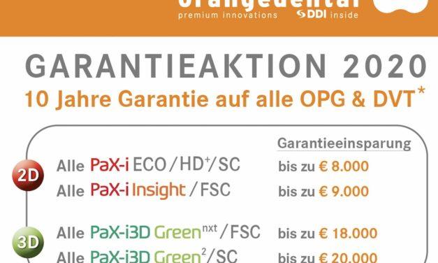 orangedental / Vatech bieten jetzt 10-Jahres-Garantie