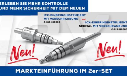 ICX-Einbringinstrumente – verschraubbar!
