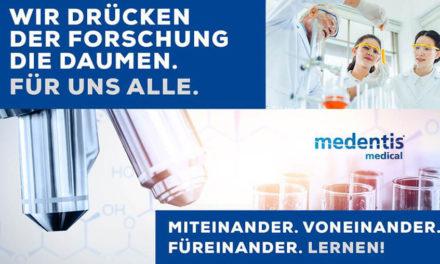 medentis medical sorgt sich um die Gesundheit seiner Mitarbeiter und seiner Kunden!