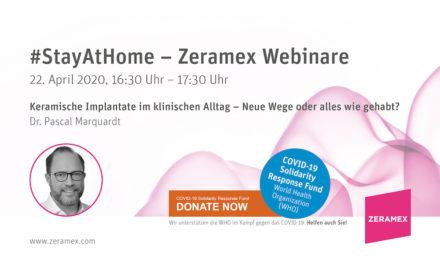 Zeramex-Webinar mit Dr. Pascal Marquardt – 22. April 2020