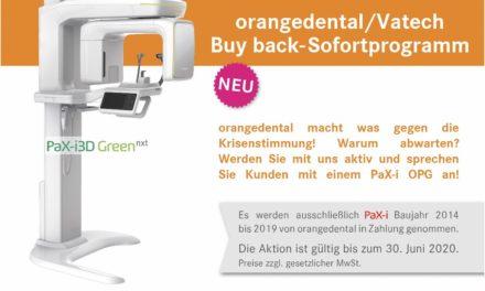orangedental: Buy back-Sofortprogramm 2020 für alle Anwender eines PaX-i OPG