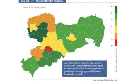 Kurzmeldung Atlas Dental: CAD/CAM-Systeme – eher in der Stadt als auf dem Land