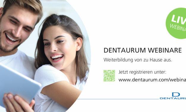 Fortbildung mit Abstand: Dentaurum erweitert Angebot an Webinaren