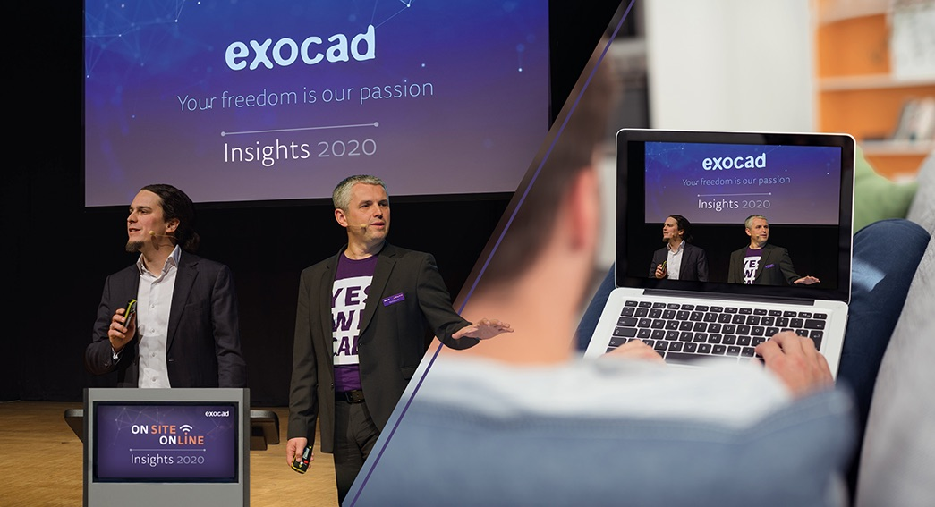 exocad Insights 2020: globales Hybrid-Event am 21. und 22. September 2020