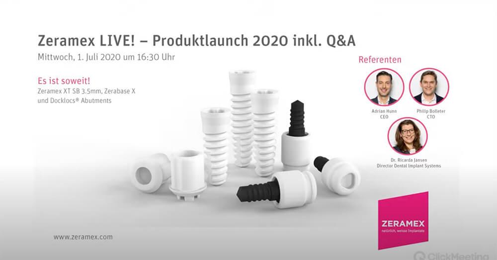 Zeramex Produktlaunch 2020 inkl. Q&A