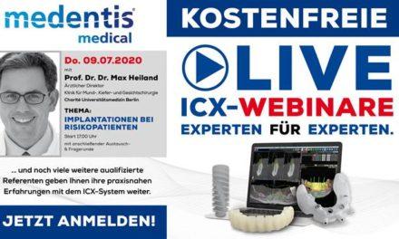 medentis medical lädt zu kostenfreien LIVE ICX-WEBINAREN ein