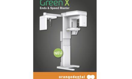 Green X: Neues DVT mit 50 µ Voxel, Endo-Mode und extrem kurzen Umlaufzeiten