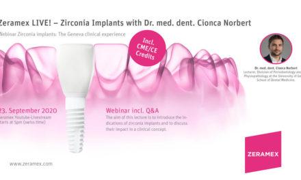 Zeramex LIVE! Webinar with Dr. med. Dent. Cionca Norbert