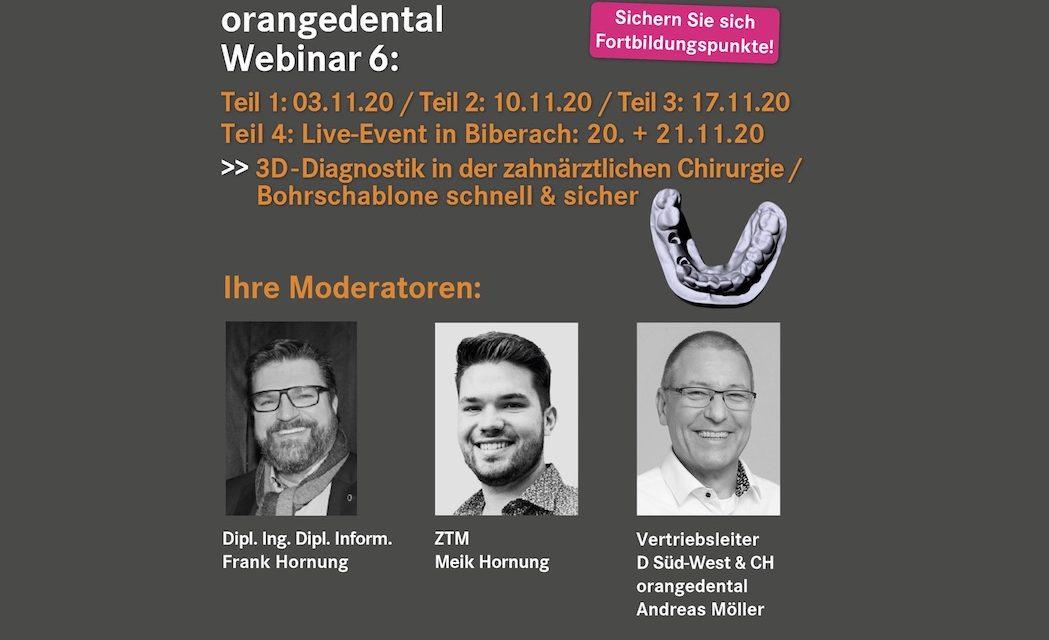 Webinar orangedental: 3D-Diagnostik in der zahnärztlichen Chirurgie / Bohrschablone: schnell & sicher