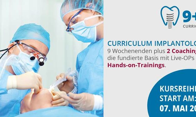 "DGOI: Die 11. Kursreihe des Curriculums Implantologie ""9+2"" beginnt am 7. Mai 2021"