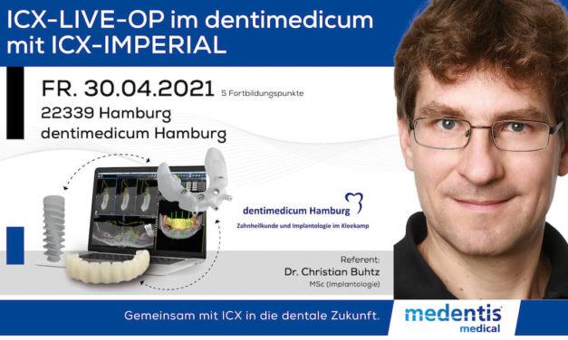 ICX-Live-OP im dentimedicum mit ICX-Imperial