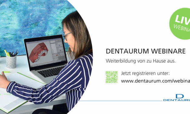 Das Webinar-Programm von Dentaurum ist online